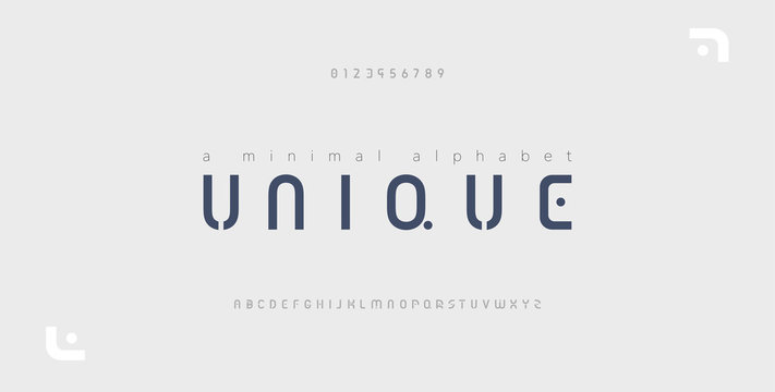 Minimal font creative modern alphabet. Typography with dot regular and number. minimalist style fonts set. vector illustration