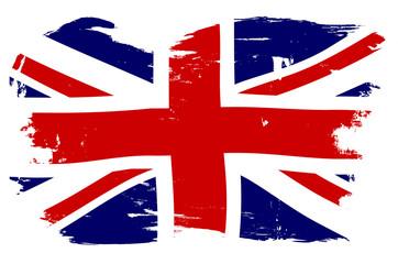 Union Jack British Flag With Grunge