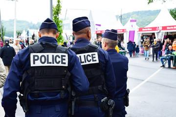 Rouen, France - june 10 2019 : police patrol Fototapete