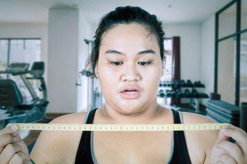 Fat women shocked after seeing her checkup result