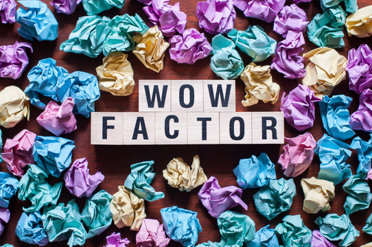 Wow Factor word concept on cubes