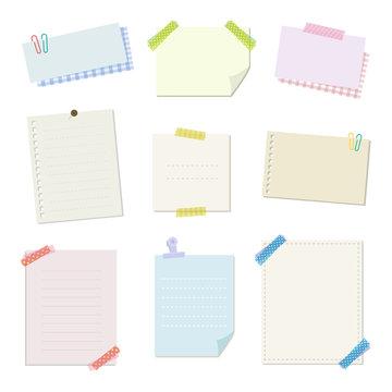メモ用紙 素材 / vector eps