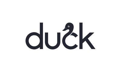 Creative duck for logo design concept on white background