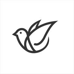 bird logo design icon vector