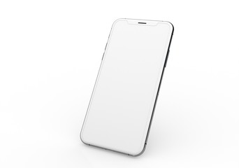 New realistic mobile phone smartphone mockup with blank screen.