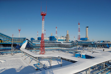 A general view of the Atamanskaya compressor station, part of Gazprom's Power Of Siberia project outside the far eastern town of Svobodny, in Amur region