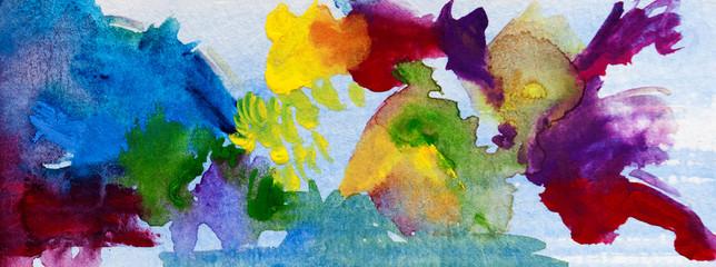 Watercolors splash colors