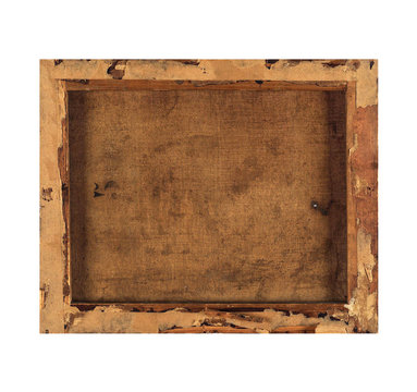 Isolated Photo Frame, Wooden Antique Photo Frame