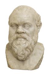 Socrates. Marble head of the greek philosopher