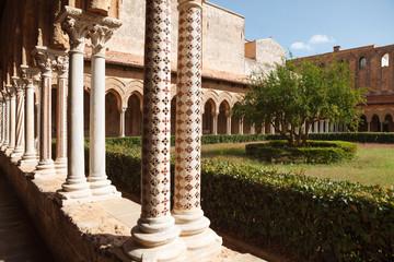 Courtyard of Monreale Cathedra
