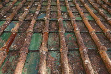 Old roof tiles from Sicily