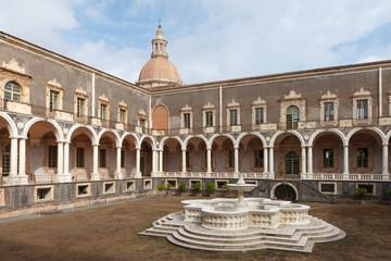 Courtyard of Benedictine Monastery of San Nicolo l'Arena.