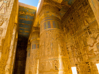 Printed roller blinds Egypt View of the Medinet Habu Temple in Luxor, Egypt