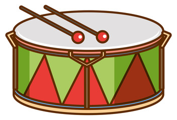 Drum on white background