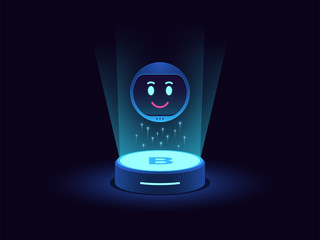 Smart chat bot, virtual voice assistant. Mobile chatbot with function of Machine learning, Smart home station
