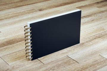 Black page notebook with clipping path