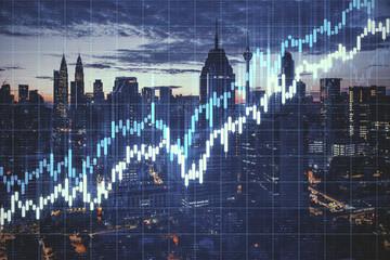 Stock charts hologram