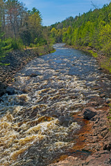 Raging Rapids on a North Woods River