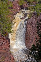 Roaring Falls Hidden in the Rocks