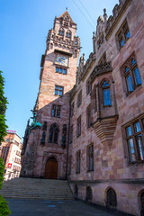Rathaus Town Hall in the Saarbrucken city, Saarland, Germany