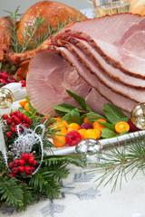 Christmas Roasted Ham and Smoked Turkey