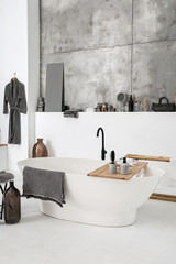 Stylish interior of clean bathroom