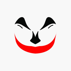 joker clown face logo mascot design