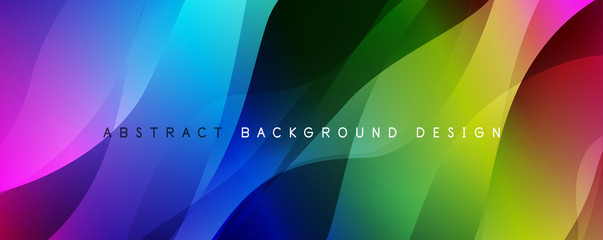Keuken foto achterwand Abstract wave Trendy simple fluid color gradient abstract background with dynamic wave line effect. Vector Illustration For Wallpaper, Banner, Background, Card, Book Illustration, landing page