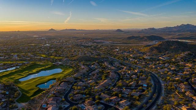 aerial view of East Mesa Arizona