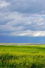 Blue Cloudy Sky at Badlands National Park