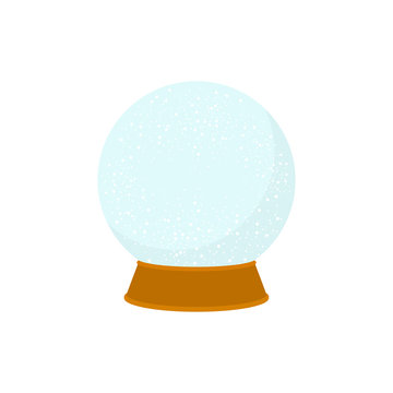 snowglobe icon in flat style isolated vector illustration on white transparent background. Christmas snowglobe icon vector