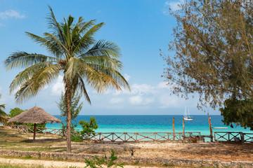 Papiers peints Zanzibar Beautiful hotel area by the ocean. Tanzania, zanzibar