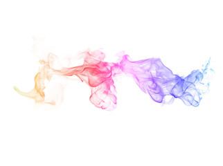 Garden Poster Smoke Smoke color on white background