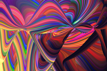 Printed roller blinds Fractal waves An abstract psychedelic background image.