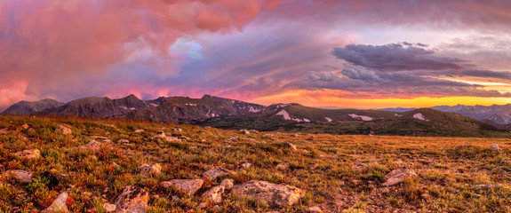 Trail Ridge Summer Epic Cloud Sunset Panorama