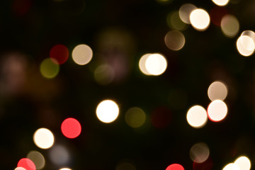 Out of focus holiday lights for background Wall mural
