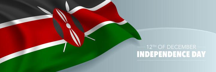 Kenya independence day vector banner, greeting card. Wall mural