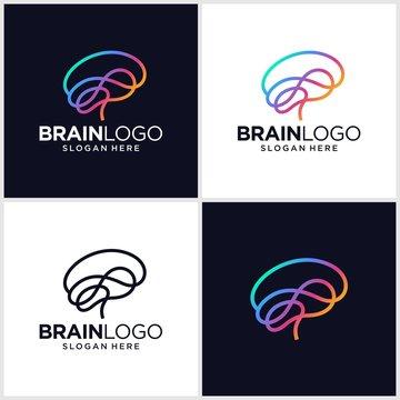 Brain Logo Design Vector Template