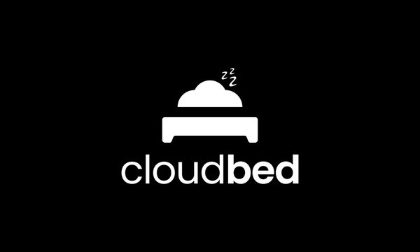 cloud bed logo design template