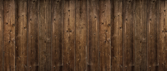 Brown wood texture. Abstract background, empty template. rustic weathered barn wood background with knots and nail holes. Close up of wall made of wooden planks. Grunge surface