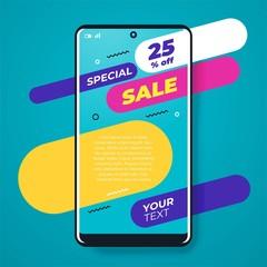 Mega Sale social post design template vector