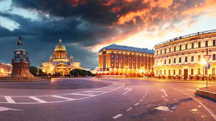 Saint Petersburg - Isaac cathedral at night, Russia