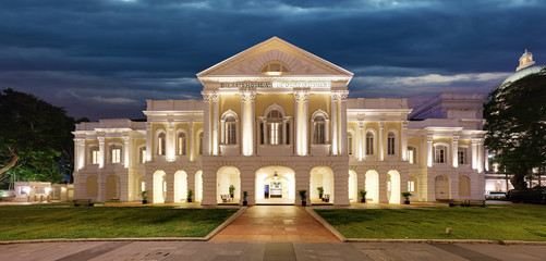 Singapore - Old Partliament at night, Art House