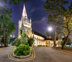 Singapore - Andrew's Cathedral at night