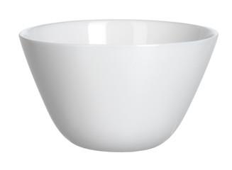 Ceramic white bowl isolated on white background