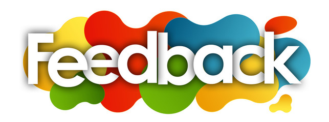 feedback in color bubble background Wall mural