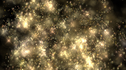 Festive color background with shiny abstract stars.