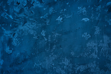 Abstract dark blue background of vintage handmade texture wall