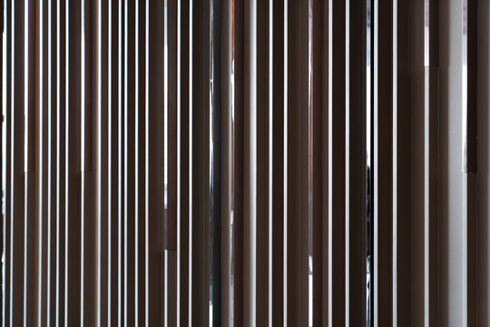 Detail of Random wooden strip wall in vertical direction