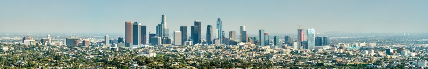 Panorama of Los Angeles from Mount Hollywood